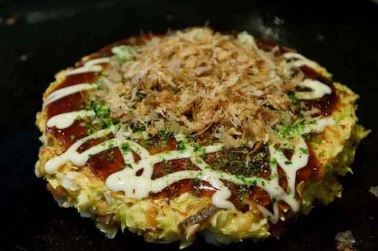 delicious okonomiyaki japanese cuisine
