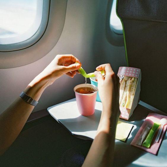 Pack in-flight snacks