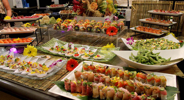 Japanese food catering for celebrations